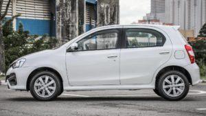 Toyota etios - carros com seguro mais baratos